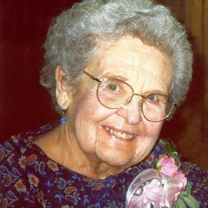 "Rebecca Sodergren's grandmother, Norma ""Nan"" Beinlich, in 2002."