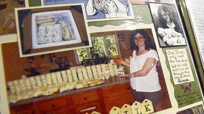 Heidi Solomon created a detailed scrapbook of her journey to donate 1,300 ounces of breast milk after her son's death.