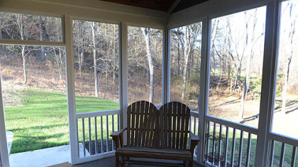The screen porch off the kitchen.