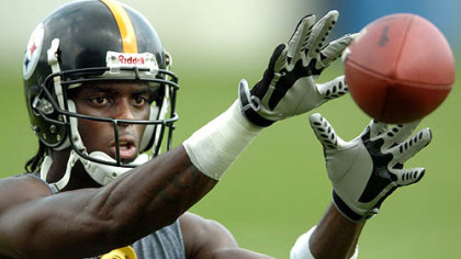 Former Steelers receiver Plaxico Burress.