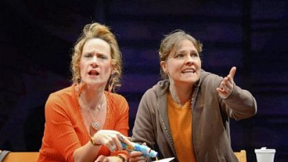 "Helen Coxe and Kelly McAndrew in ""Good People."""