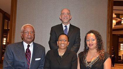 Chauncey W. Smith, Paula K. Davis, Epryl King, David A. Harris (standing).