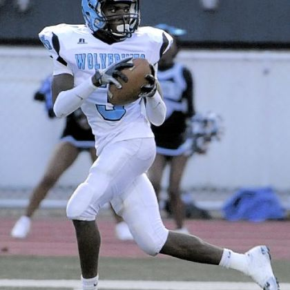 Woodland Hills&#039; Trevon Mathis hauled in a 67-yard touchdown pass last Friday against Upper St. Clair.