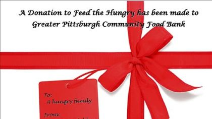 Ecard for the Greater Pittsburgh Community Food Bank.