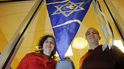 Rabbis Amy and Alex Greenbaum, with Beth El congregation of the South Hills, leads a interfaith couples workshop ?Pre-Christmas