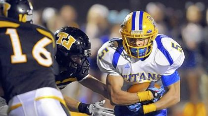 West Mifflin running back James Wheeler carries the ball against Thomas Jefferson earlier this season.