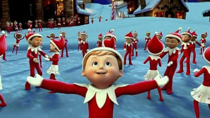 "Chippey and his fellow scout elves in the North Pole in ""The Elf on the Shelf: An Elf's Story,"" at 9:30 p.m. Dec. 14"