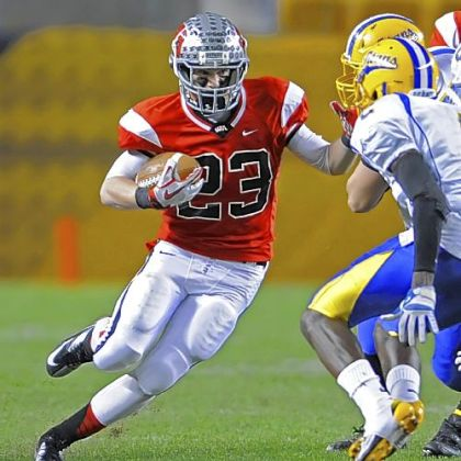 West Allegheny's Chayse Dillon carries Friday against West Mifflin in the WPIAL Class AAA championship.