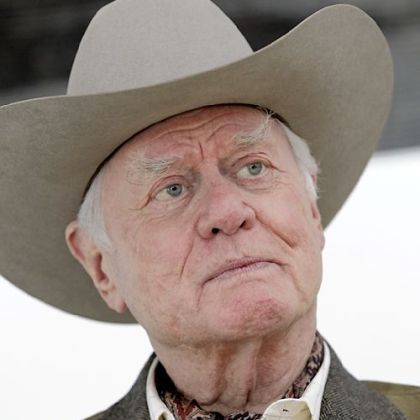 "Actor Larry Hagman, in November 2011, during an interview on location during the filming for the new ""Dallas"" television show in Dallas."