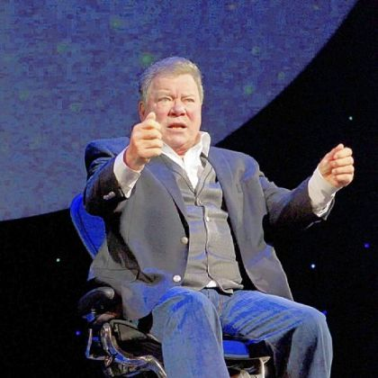 "William Shatner performs his one-man show ""Shatner's World: We just Live in It"" on Broadway."