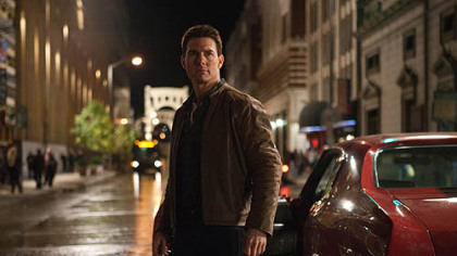 "Tom Cruise in the upcoming film ""Jack Reacher."""
