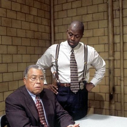 "Andre Braugher, right, won his first Emmy in 1998 for his role as Detective Pembleton on ""Homicide: Life on the Street."" James Earl Jones was a guest star on the series."