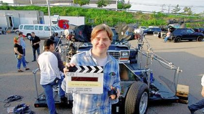 "Stephen Chbosky, shown during filming of ""The Perks of Being a Wallflower"" here in 2011, is up for an Independent Spirit Award."