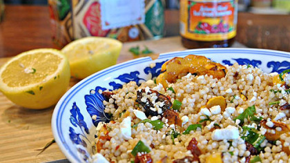 Whole Wheat M'Hamsa Couscous Salad