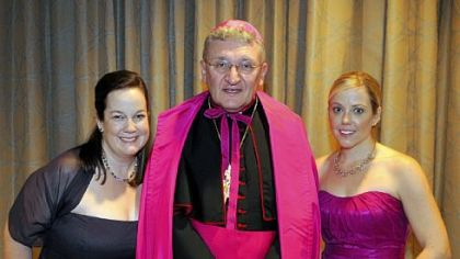 Co-chair Beth Brunins, Bishop David Zubik and chair Jan Kubiska.