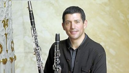 Pittsburgh Symphony Orchestra principal clarinetist Michael Rusinek will perform Mozart&#039;s Concerto for Clarinet and Orchestra on the basset clarinet, left, the original instrument the concerto was composed for.