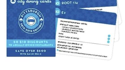 City Dining Cards give $10 discounts at local restaurants.