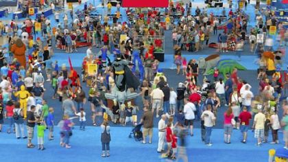An aerial view of last year's KidsFest at the David L. Lawrence Convention Center.