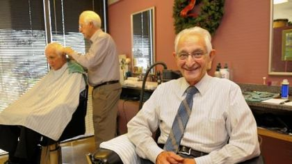 Frank Vitale turned 90 on Wednesday and is still working in his salon, Vitale's Hair Styling, in Foster Plaza in Green Tree.