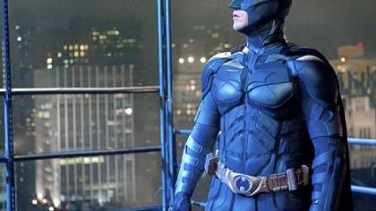 "Christian Bale wraps up his role as Batman in ""The Dark Knight Rises."""