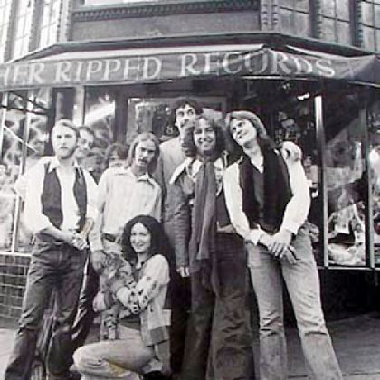 The staff of Rather Ripped Records in Berkley, Calif., in the '70s. Russ Ketter is second from left.