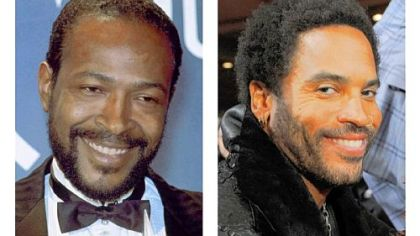 Marvin Gaye, left, will be portrayed by Lenny Kravitz in a biopic that will be shot next year.