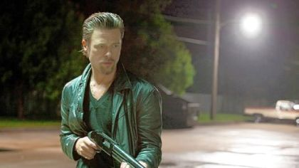 "Brad Pitt portrays professional hit man Jackie Cogan in ""Killing Them Softly."""