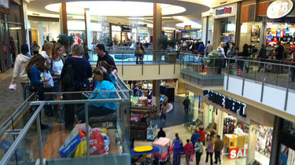Black Friday shoppers jam the Mall at Robinson. For the moment, retailers are staying upbeat on the holiday season, with many noting they saw big crowds and sales over the Thanksgiving weekend that gave them momentum going forward.