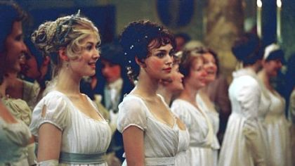 """Anna Karenina"" star Keira Knightley's first film with director Joe Wright was 2005's ""Pride & Prejudice,"" with Rosamund Pike, left."