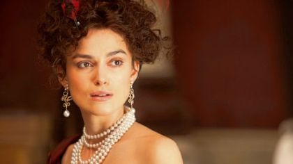"Keira Knightley plays the title role of Tolstoy's tragic heroine in ""Anna Karenina."""