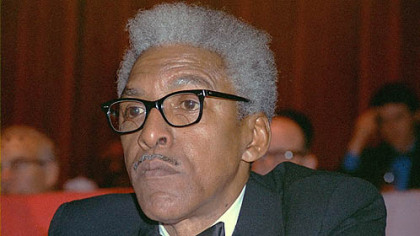 Bayard Rustin, the civil rights activist who organized the 1963 rally where Martin Luther King gave his &quot;I Have a Dream&quot; speech, is shown in this Dec. 14, 1970 file photo in New York.