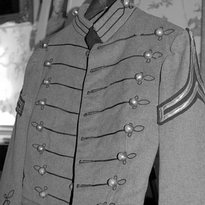 The West Point uniform jacket belonging to the late Chester deGavre that was found at a New Jersey beach by Donna Gugger of Holland, Pa., after Superstorm Sandy.