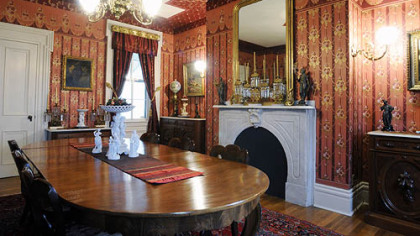 The dining room at 2115 Rockledge St.