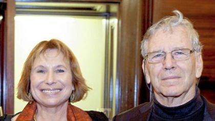 "Fania Oz-Salzberger and Amos Oz, authors of ""Jews and Words."""