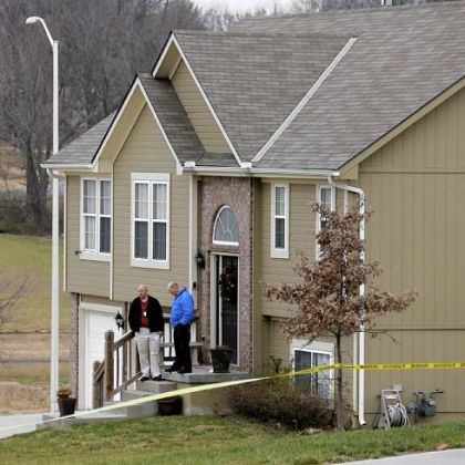 A view of the house near Independence, Mo., where Jovan Belcher's girlfriend was shot Saturday.