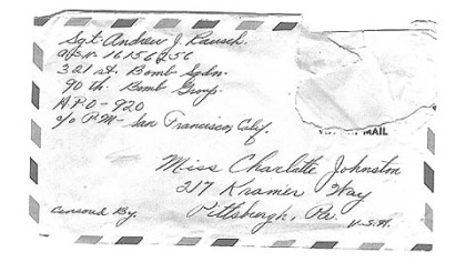 A letter addressed to Charlotte Johnston.