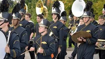 Stephen Liebrock, center, is a member of the North Allegheny High School marching band. Stephen has Down syndrome.