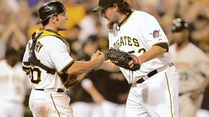 Pirates closer Joel Hanrahan, right, will become a free agent after the 2013 season.