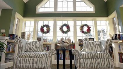 John and Mohylyn Yocca's reading room in their Peters Township home, which will be open for Sunday's  Watchful Shepherd House Tour.