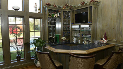A bar ready for entertaining.
