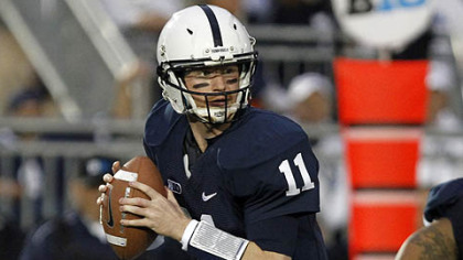 Penn State quarterback Matt McGloin looks to pass against Ohio State during a game earlier this season.