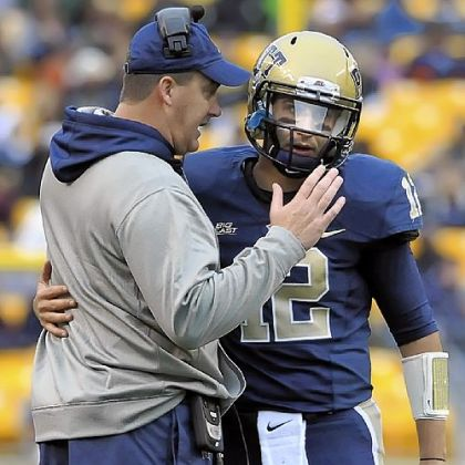 Pitt coach Paul Chryst, left, is happy for the chance to play another game -- even if it is in the same bowl the Panthers played in the previous two seasons.