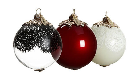 Jason Wu for Target   Neiman Marcus holiday collection ornaments, $49.99 for set of 3.