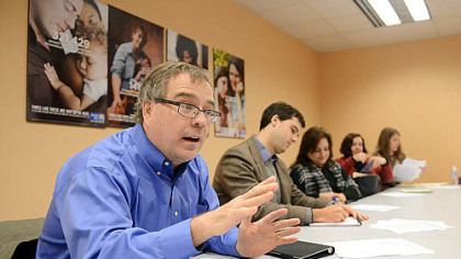 John Denny of Denny Civic Solutions at a meeting with the United Way.