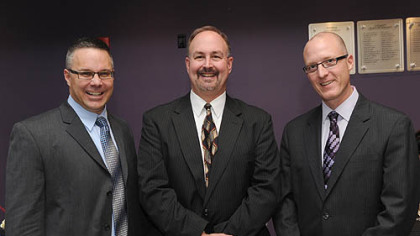 George Kantor, Lou Rood and Andrew Hoover.