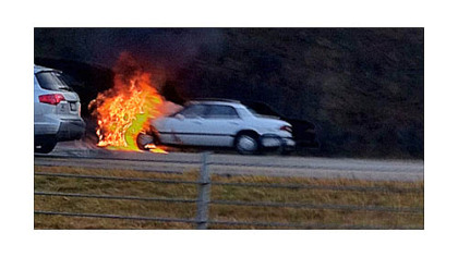 A car caught fire early this morning on I-79 near Wexford.