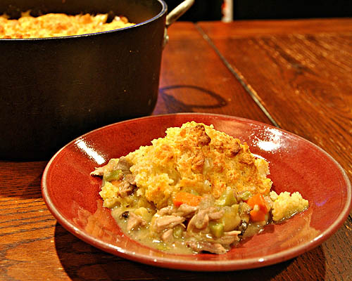 What's for Dinner: Turkey Pot Pie with Cheddar Biscuit ...