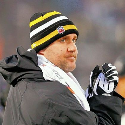 Quarterback Ben Roethlisberger watches from the sideline during Sunday's game against the Baltimore Ravens.