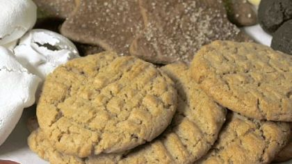 Sunflower seed butter cookies.