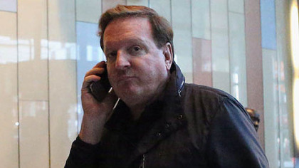 Penguins co-owner Ron Burkle arrives Thursday for a negotiation session with the National Hockey League Players Association at the Westin Times Square Hotel in New York City.